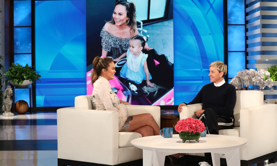 "Chrissy Teigen visited good friend Ellen DeGeneres's talk show to discuss her second pregnancy, possible baby names and Meghan Markle! In the 2006-2007 era of <em>Deal or No Deal</em>, both Chrissy and Meghan were briefcase girls on the show so John Legend's wife knew her. She then joked: ""That could be me, I could be Princess Harry, or no, what is it?"" The pregnant beauty also revealed that she's due to have a baby boy in June but the couple is totally stuck on a boy's name. Fingers crossed they come up with something by then!