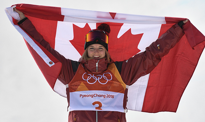 Cassie Sharpe made history in Pyeongchang as the first Canadian freestyle female skier to ever receive a gold medal  for halfpipe! The BC native was competing in her first-ever Olympics.