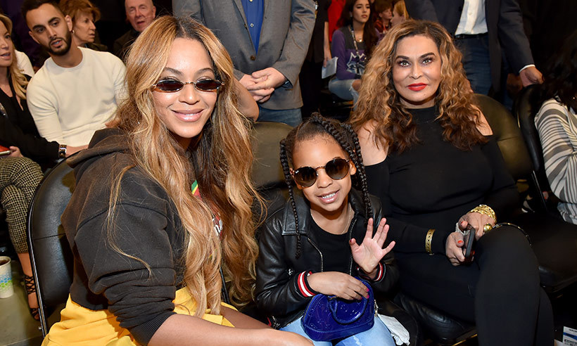 Blue Ivy Carter had a blast with her mom Beyonce and grandma Tina Lawson at the NBA All-Star basketball game. The cute youngster, who turned six in January, wore ripped jeans and a black bomber jacket and accessorized with a cool pair of sunglasses. Beyonce, meanwhile, looked stunning in a long yellow skirt and transparent heeled boots as she posed for selfies with her eldest daughter.