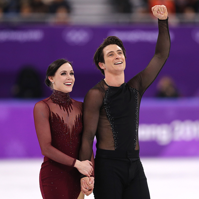 "The 28-year-old and her 30-year-old partner were clearly ecstatic to have made it through their final routine so flawlessly. Of her chemistry with Scott, Tessa told Hello!, ""The chemistry and connection Scott and I share on the ice stems from a shared love of movement, musicality and storytelling.""