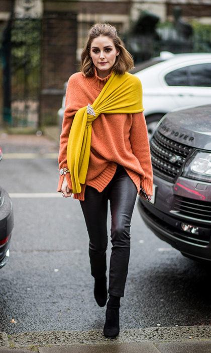 Olivia Palermo shows us how to do layers – and colour! –
