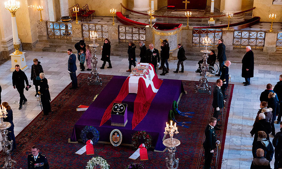 <p>On February 17, mourners lined up inside the candlelit Christiansborg Palace Church to pay their respects to the late Prince. The royal will be cremated, with half of his ashes then scattered at sea, and the other half buried at Fredensborg Castle.</p>
