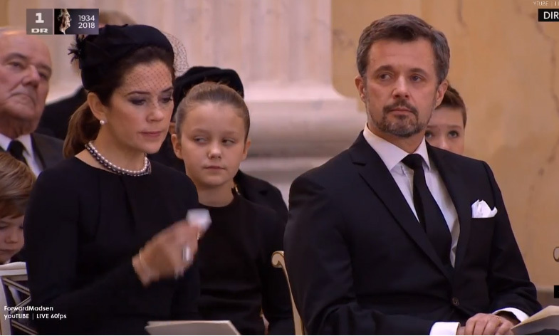 <p>Frederik, Prince Henrik's elder son and Queen Margrethe's heir, looked emotional during his father's funeral, which was broadcast on live TV. The prince had flown back from his visit to South Korea for the Winter Olympics to be at his father's side before his death.</p>