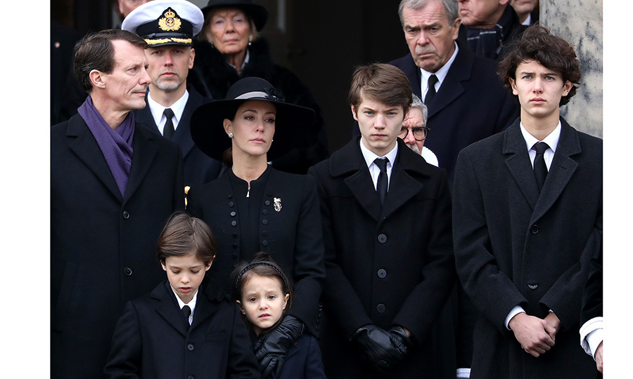 <p>Prince Joachim, his wife Princess Marie and four children were grief-stricken as they watched the funeral cortege.</p>