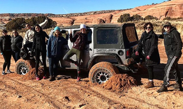 <p>Jazmin and Pauline along with other members of the USA Gazelles team trained in Moab, Utah.</p>