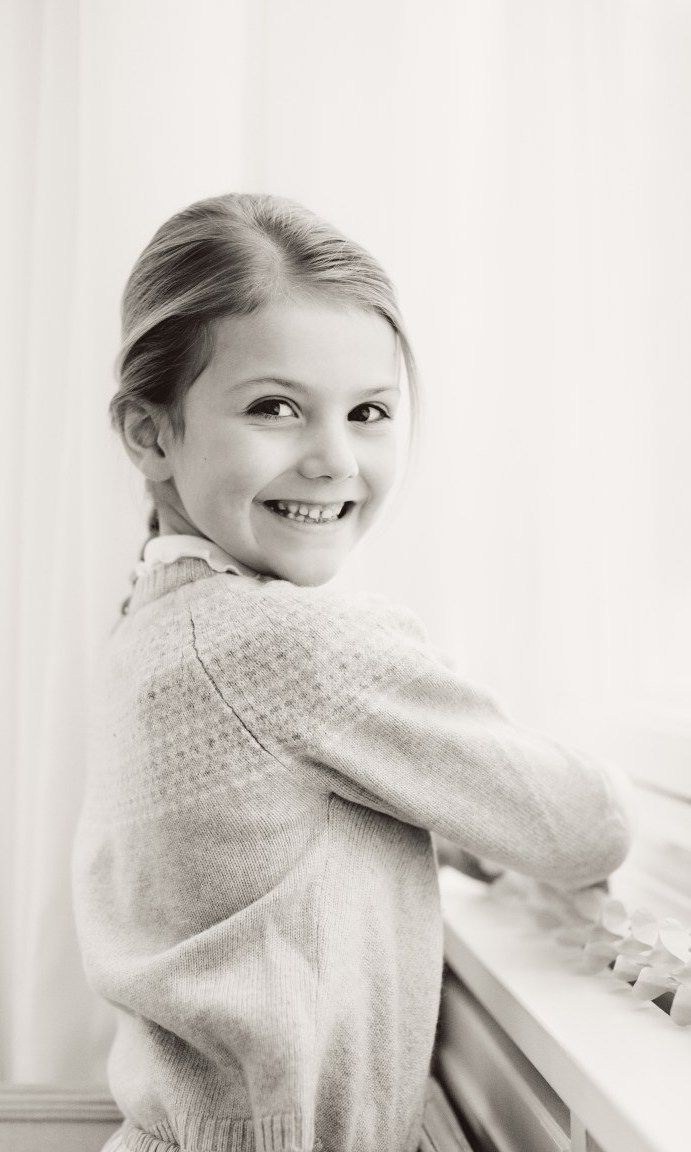 The third new photo of the royal youngster to mark her birthday, a tradition followed by the Swedish royals each year. Princess Estelle Silvia Ewa Mary, also known as the Duchess of Östergötland, is second in line to the Swedish throne.