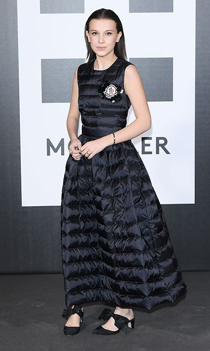 <p>Also at Moncler's gathering, <em>Stranger Things</em> star Millie Bobby Brown already proved that puffer dresses will be next season's hottest and most fashion-forward trend.</p>