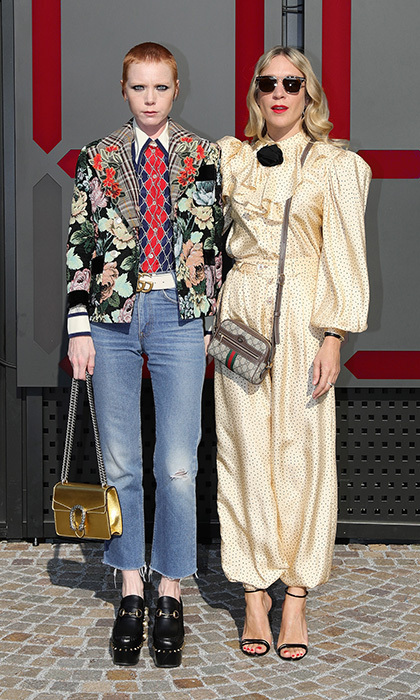 <p>Model-musician Lissy Trullie and actress Chloe Sevigny looked very chic at the Gucci show.</p>