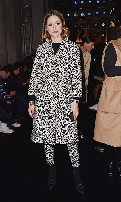 <p>Animal print is clearly all the rage! Olivia Palermo was also spotted – literally – at Max Mara's Fall/Winter presentation.</p>