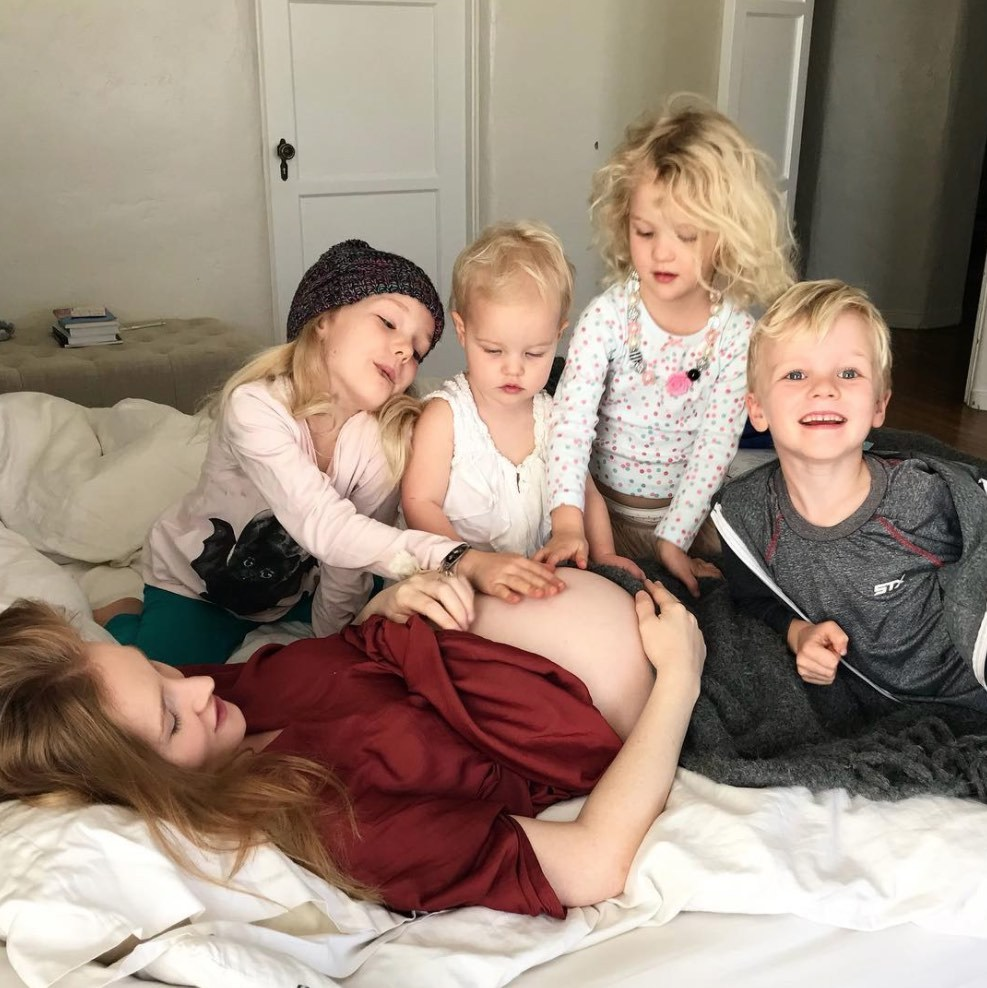 <h2>James Van Der Beek and Kimberly Brook</h2>