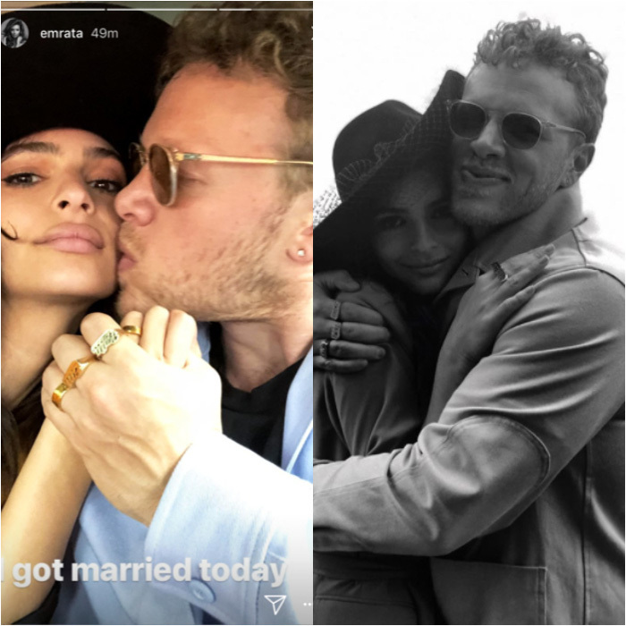 <h4>Emily Ratajkowski and Sebastian Bear McClard</h4>