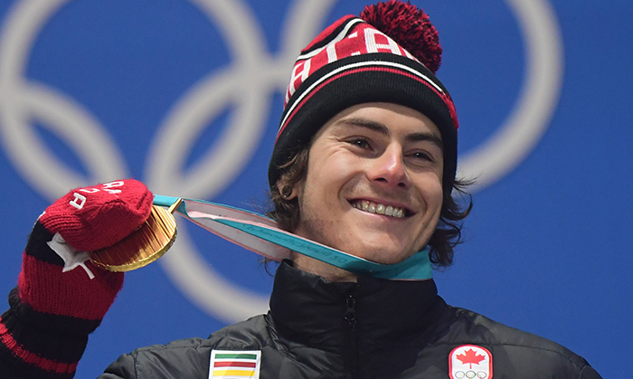 Toots! Sebastien Toutant scored another gold medal for Canada on Feb. 24 at the men's big air snowboarding competition.