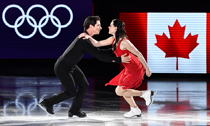 "Grand finale! Tessa Virtue and Scott Moir stole the show at the ice skating gala as the PyeongChang Olympic Games came to a close. The proud Canadians paid tribute to one of Scott's heroes, the late Gord Downie, by skating to The Tragically Hip's ""Long Time Running."" 