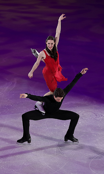 The stunning routine is one that the duo performed last year just weeks after the Canadian icon succumbed to his cancer. The couple, who have stolen the hearts of Canadians, had fans in a tizzy throughout their dance, with many rushing to speculate on the sweet nothing that Scott whispered to Tessa right before they began. 