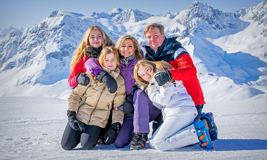 Queen Maxima and her family hit the slopes for some much-needed rest and relaxation. A set of photos was released on Monday (Feb. 26) showing the 46-year-old Queen posing in the snow with her husband King Willem-Alexander and their three daughters, Crown Princess Catharina-Amalia, 14, Princess Ariane, ten, and 12-year-old Princess Alexia while on their annual ski trip in Lech am Arlberg, Austria. With the mountains as their backdrop, the royal family looked picture perfect.