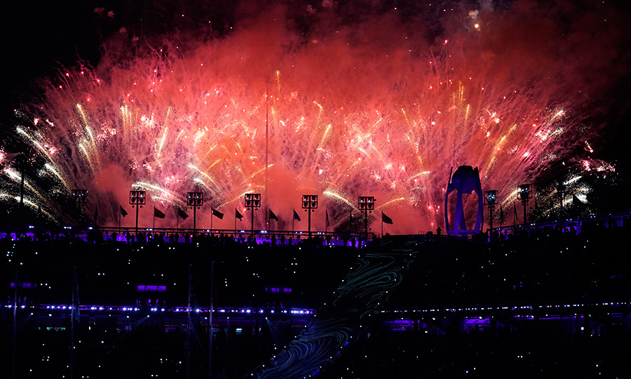 That's a wrap! A stunning firework show went off to conclude the closing ceremony of the 2018 winter Olympic Games in PyeongChang, South Korea on Feb. 25.