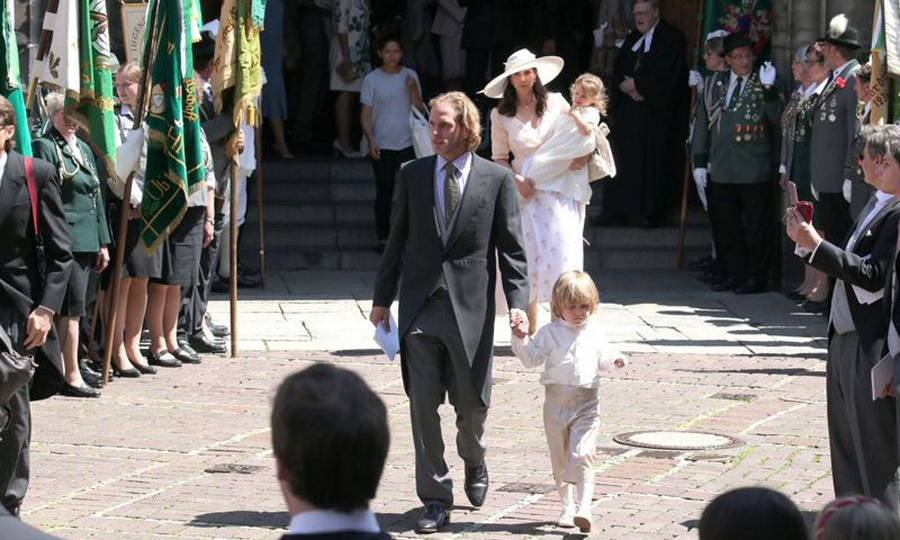 <p>Ernst August's stepbrother Andrea Casiraghi and his wife Tatiana Santo Domingo also traveled to Hanover for the wedding with their two children, who served as a pageboy and flower girl in outfits by Princess Marie-Chantal of Greece.</p>