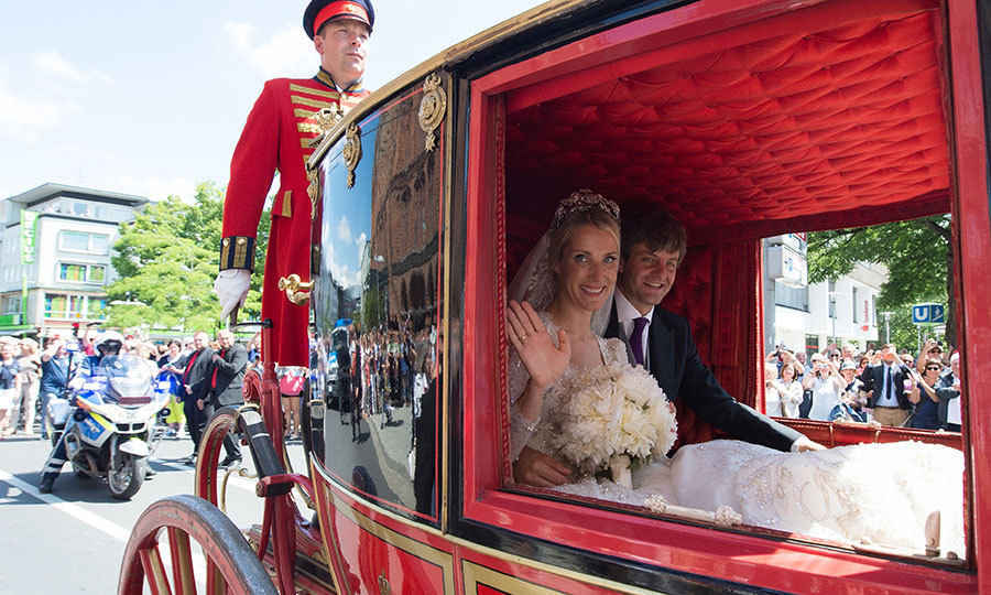 <p>After the ceremony, Prince Ernst August and Ekaterina of Hanover took a traditional carriage ride through the town. </p>