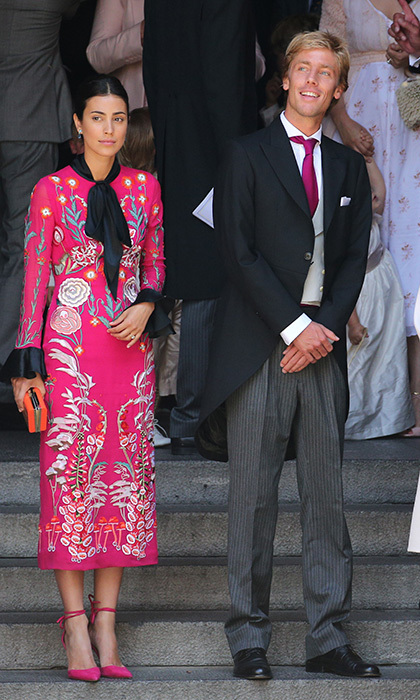 <p>The groom's brother Prince Christian of Hanover and his fiancee Alessandra de Osma also attended the wedding. The couple may have been thinking of their own nuptials, as they held their civil cermony in November 2017, and are set to say their religious vows in a royal wedding in 2018. </p>