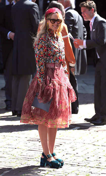 <p>Princess Elisabeth von Thurn und Taxis was among the more colorful guests at Ernst and Ekaterina's summer wedding. </p>
