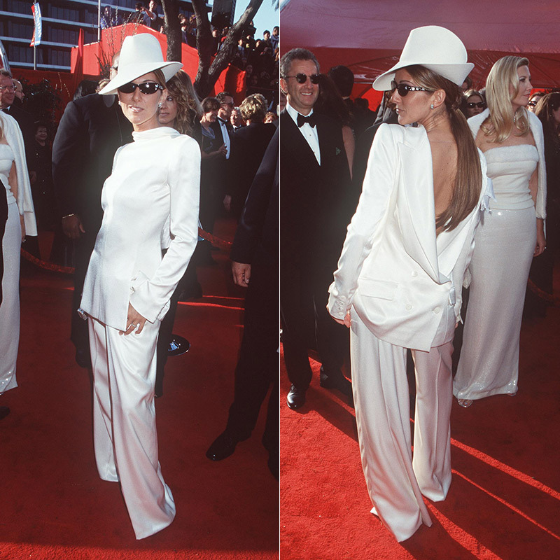 <strong>Celine Dion in Dior, 1999</strong>