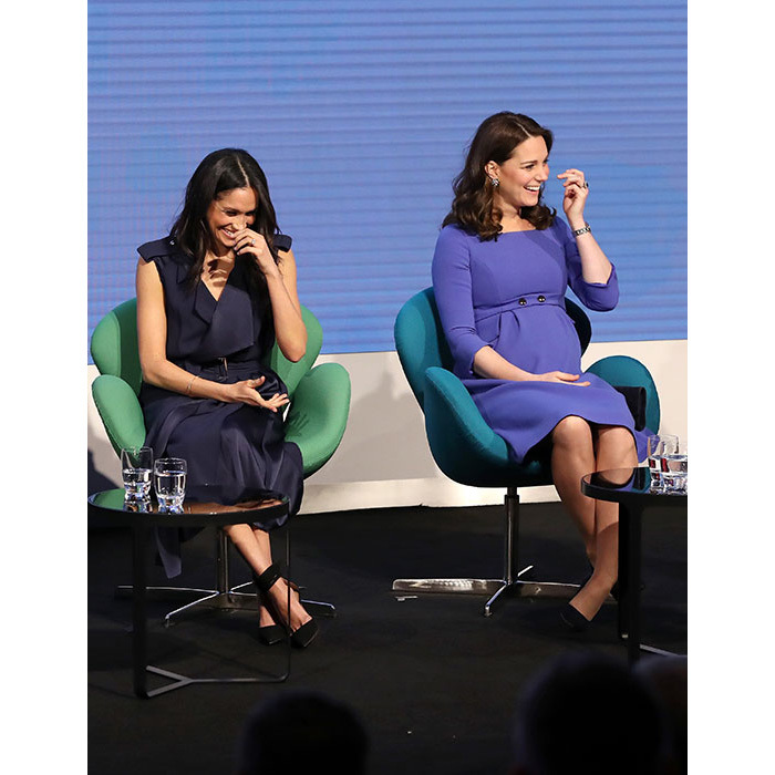 <p>It seems that Meghan and Kate have developed a wonderful relationship and are clearly at ease with one another. The fab four shared a few jokes on stage and were in high spirits during the event.</p>