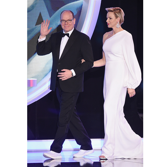 Prince Albert of Monaco added a sporty twist to his tuxedo as he attended the 2018 Laureus Awards with wife Princess Charlene. The European monarch wore sneakers with his outfit for the event held at Salle des Etoiles, Sporting Monte-Carlo on February 27.