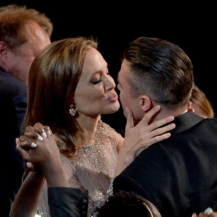 <p>Angelina Jolie &amp; Brad Pitt</p>