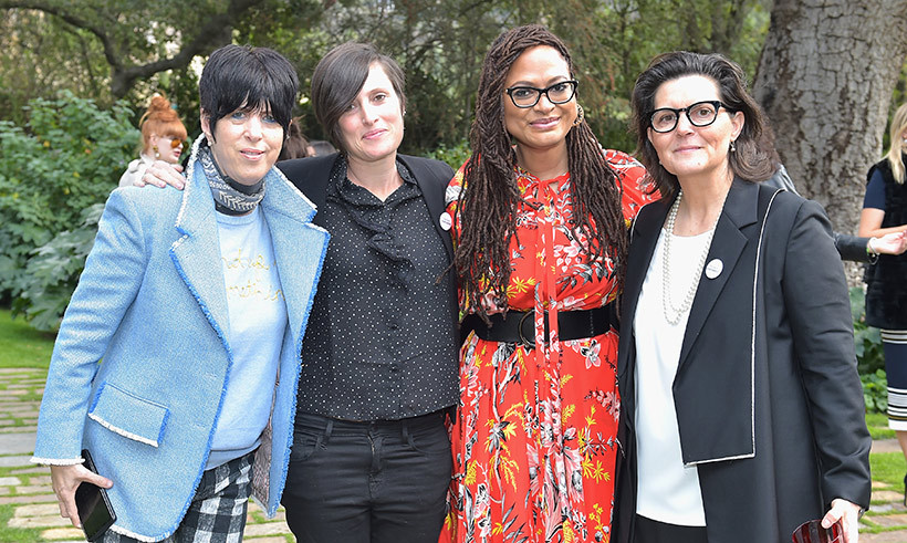 <p>First stop, Diane von Furstenberg's annual Feb. 28 luncheon, which celebrates all the female Oscar nominees! Diane Warren, Rachel Morrison, Ava DuVernay and Tatiana Rigel enjoyed each other's company.</p>