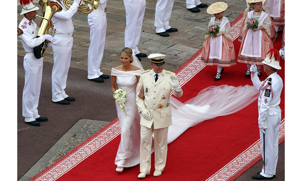 <h2>Prince Albert and Charlene Wittstock, 2011</h2>
