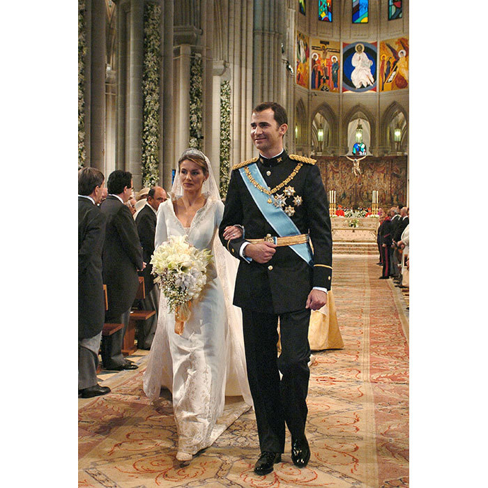 <h2>Prince Felipe and Letizia Rocasolano, 2004</h2>