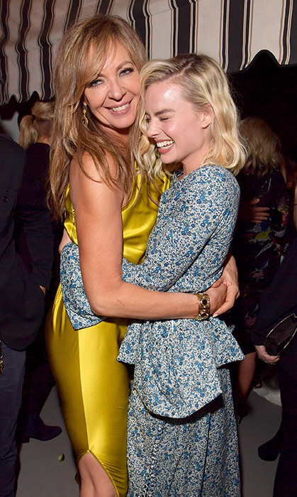 What's so funny, Margot? <I>I, Tonya</i> co-stars shared some giggles while attending the Gersh pre-Oscars party.