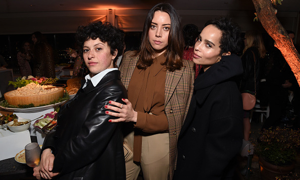 Actresses Alia Shawkat, Aubrey Plaza and Zoe Kravitz were the coolest trio around at the Women In Hollywood Oscars party on Mar. 1.