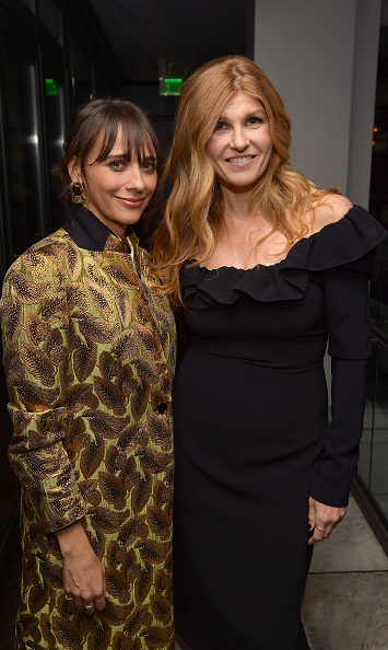 The hostess with the mostess! Rashida Jones, co-host of the Women In Hollywood party, stopped for a quick snap with actress Connie Britton.