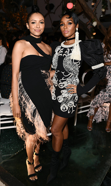 <p>Fringe benefits! Kat Graham and Janelle Monae looked chic as ever in their stunning, textured outfits. The gorgeous duo posed together for a sleek snap while celebrating Women In Hollywood.</p>