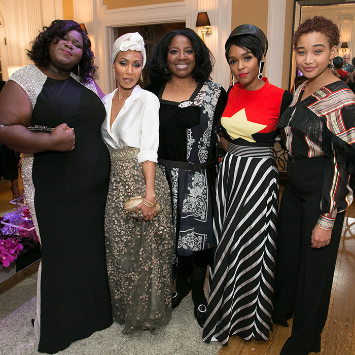 Dream squad! Gabourey Sidibe, Jada Pinkett Smith, LaTanya Richardson, Janelle Monae and Amandla Stenberg stunned for a group shot at the annual Sistah's Soiree.