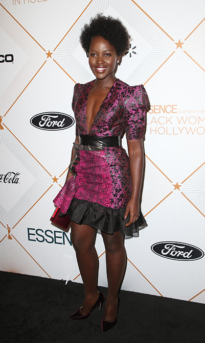 Style star and <i>Black Panther</i> actress Lupita Nyong'o was among the stars hitting the red carpet at the Black Women in Hollywood event.
