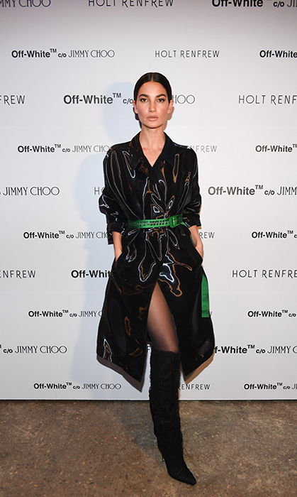 World famous supermodel Lily Aldridge was in Toronto on Mar. 1 for Holt Renfrew's launch of Off-White's collaboration with Jimmy Choo.