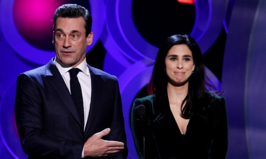 John Hamm and Sarah Silverman presented Frances with her big award.