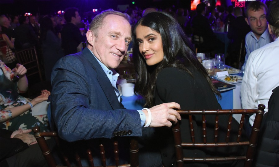 Salma cozied up to her husband, Kerig CEO Francois-Henri Pinault, in the audience. The loved-up couple made the whole outing look more like a fancy date night!