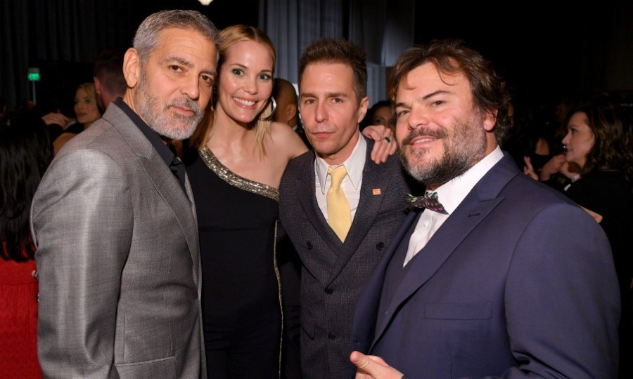 George Clooney, Leslie Bibb, Sam Rockwell and Jack Black were among the long list of stars to attend the 16th annual 'Night Before' party, benefiting MPTF on March 3.