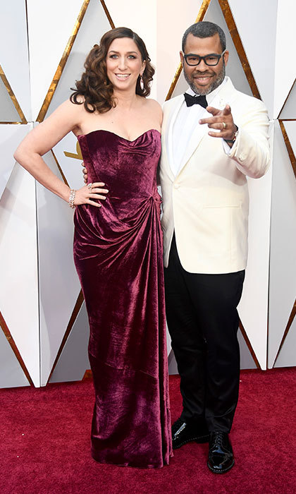 <p>Chelsea Peretti &amp; Jordan Peele</p>