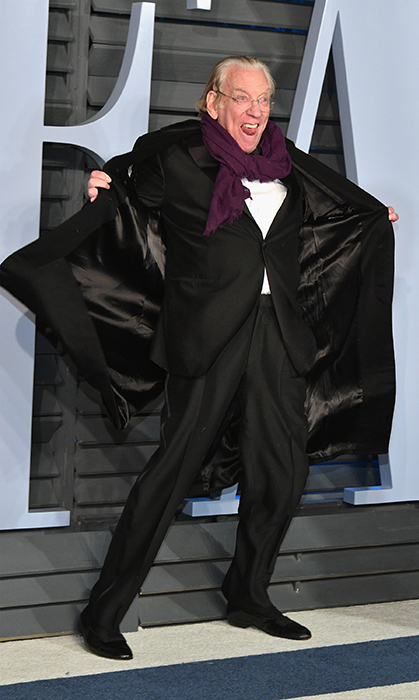 Donald Sutherland showed off his outfit while arriving at the Vanity Fair after-party.