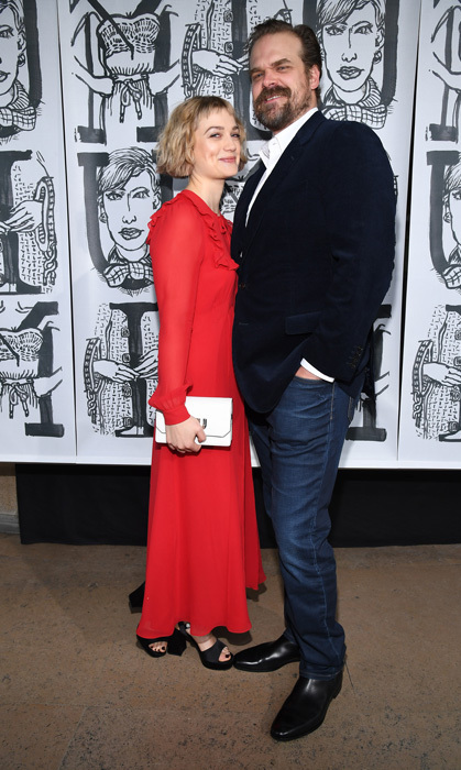 Much different than the Upside Down! David Harbour and girlfriend Alison Sudol enjoyed their time in Paris and took in the Miu Miu show.