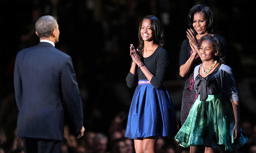 <h2>Michelle Obama, Malia and Sasha</h2>