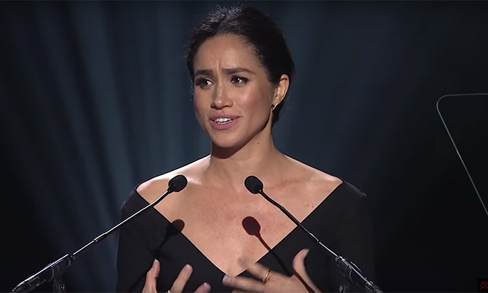<h4>The royal-to-be addressed the crowd at the UN Women Conference on International Women's Day in 2015</h4>