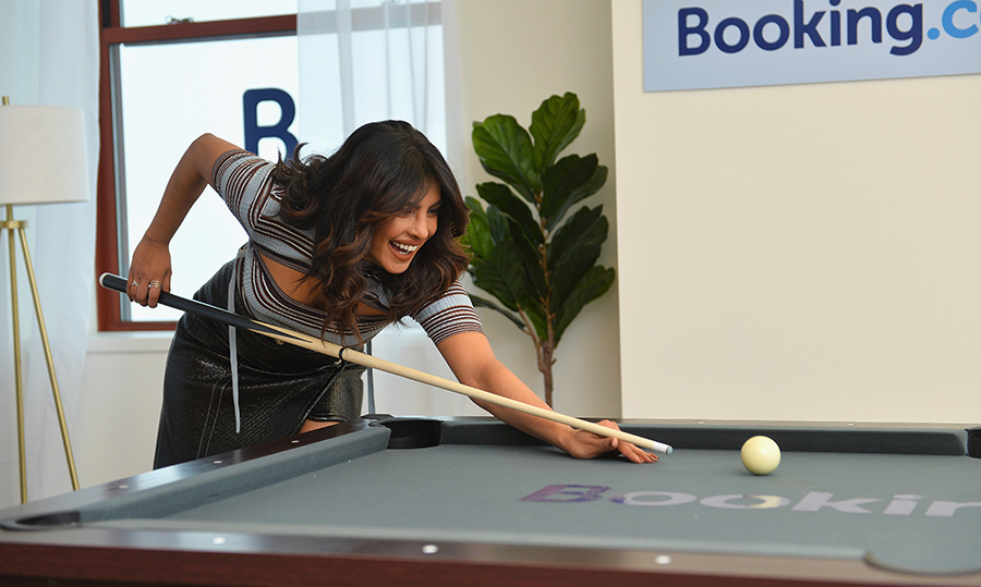 The <i>Quantico</i> star even played a little game of pool!