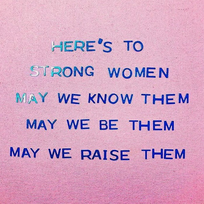 "Cara Delevingne's sister Poppy shared an inspirational quote on her Instagram, which reads, ""Here's to strong women. May we know them, may we be them, may we raise them.""