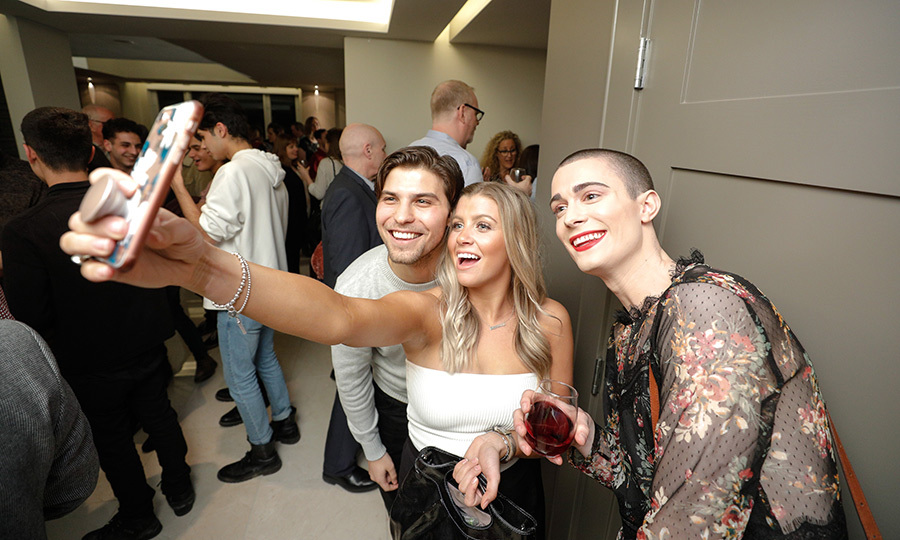 <p>Luke Bilyk, Jessica Tyler &amp; April Kervick</p>