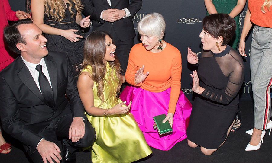 <p>Sangita Patel &amp; Helen Mirren</p>
